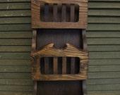 Vintage Wood Letter and Key Holder