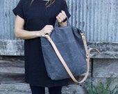 Waxed Canvas Shoulder Bag