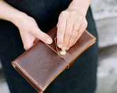 Long Leather Wallet | Leather Wrap Wallet