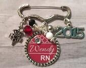 RN NURSE Gift / Nursing Grad Gift / Nursing Pin / LpN / Nursing School Graduation Gift / Brooch / Medical Profession / Hospital Staff /