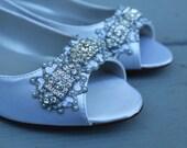Downton Abbey Bridal Open toe Ballet Flats Wedding Shoes