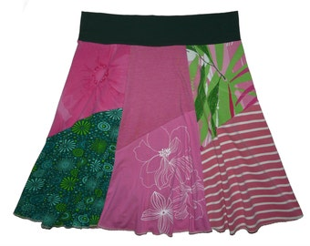 Plus Size 1X 2X Garden Party Hippie Skirt Women's upcycled clothing from Twinkle