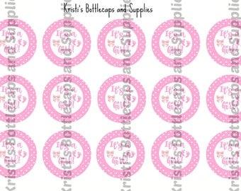 It's a Girl Bottlecap Digital Download