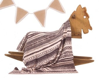 Geometric Baby Blanket , Modern Baby Blanket , Organic  Baby Blanket , Organic Baby Bedding , Summer Baby Blanket  , Aztec Baby Blanket