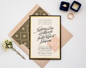 Royal Romance Custom Gold Foil Wedding Invitation