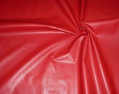 """Leather 8""""x10"""" THIN Poppy Red PLONGE Cowhide 1.75oz/.7 mm - PeggySueAlso"""