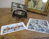 Stereoscope Viewer with four slides. Vintage Stereoscope. Opthalmological Viewer.