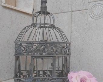 Small Granite Gray Wedding Birdcage / Birdcage Card Holder / Wedding Card Box / Wedding Card Holder / DIY Wedding / DIY Birdcage