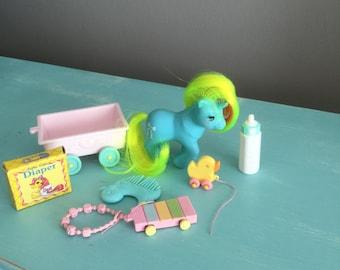 Vintage G1 My Little Pony Unicorn Baby Ribbons