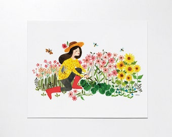 In The Garden - 8x10 art print