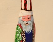 Cypress Knee Santa Hand Painted Decoration