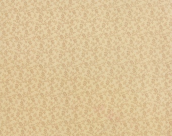 Miniature Gatherings Fabric Collection by Primitive Gatherings  - Flowers and Vines Pie Crust 1150-11 - 1 Yard