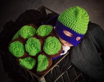 Ninja Turtle Baby Photo Prop Set Crochet