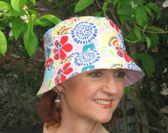 Cancer Hat Bucket Hat Alopecia Hat Chemotherapy Hat. Made in the USA.  SMALL/MEDIUM ( For Size Guide, see 'Item Details' below photos)