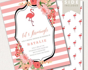 Flamingo Party Invitation - Bridal Shower - Printable Flamingo Invite