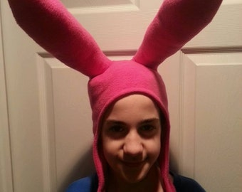 Pink bunny ear hat