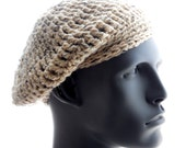 CROCHET PATTERN: The Barely Beret and Slightly Slouchy Hat Pattern for Women and Men, Instant Download PDF