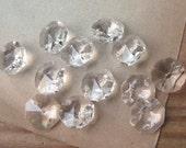 14mm Preciosa Crystal 2-Hole Octagon Connectors Faceted Chandelier Style (12)