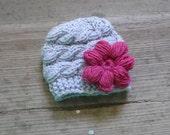 Baby Hat, Baby Girl Hat Newborn Hat Photo Prop, Baby Knit Hat Girls flower Hat, Infant Hat Newborn Baby Girl Hat, Baby spring hat