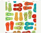 """SUPER SALE Bright Flip Flops From Robert Kaufman's """"This and That"""" Collection by Ann Kelle"""