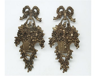 Pair of Louis XVI basket appliques