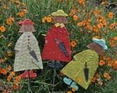 Rainy Days - Ceramic Garden Lady  - Garden Ornament - Garden Art Decoration - Ceramic Garden Art - SRA