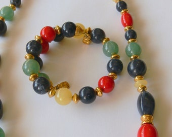 beaded  liz necklace and bracelet