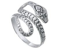 Snake Ring, Snake Wrap Ring, 925 Sterling Silver Ring, Plain Snake Ring, Silver Snake Ring, Snake Jewelry