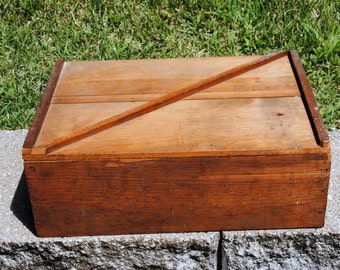 Wooden Storage Box with Dividers , Hand Crafted , Desk Organizer , Shelves , Collectible Display , Work Craft Room , Cottage Cabin Decor,