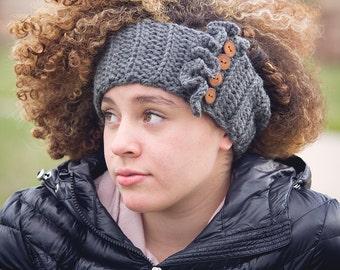 Women's Crochet Ear Warmers / Ruffle Ear Warmers / Crochet Headwrap / Crochet Headband / Ear Warmers / Boho Chic Ear Warmers