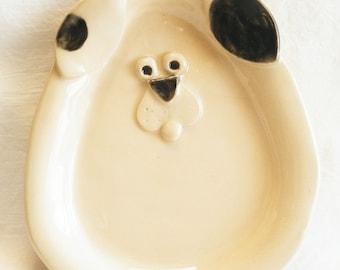Ceramic little dog Dish DD4