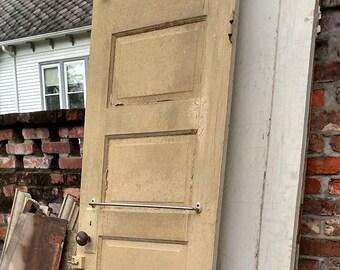 Antque Victorian Interior Hardwood Home Door 5 Panels Wooden Interior Doors Raised Panels