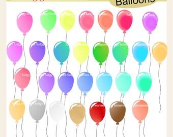 29 Balloon Clip Art,- Balloons Clip art, Rainbow Balloon Clipart, Birthday Balloon clip art, ON SALE
