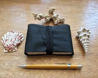 Mini Leather Pocket Book-Handmade-Sketchbook-Writer-Note Book-Black-Gift for Him