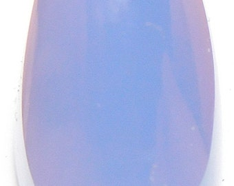 Namibian blue chalcedony   Designer cab  super high domed oval arch Marquis   AA  color and  Excellent clarity  18.76 ct.