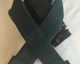 Handwoven Green Camera Straps   35MM Camera Strap   Durable Camera Strap   Handmade Camera Strap   One Of A Kind   Unique   Classy Strap