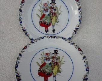 Vintage Rorstrand Swedish National Costumes China Plates