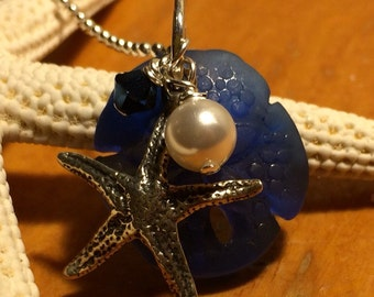 Sea glass pendant - necklace not included