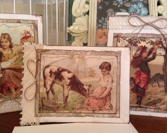 Greeting Card Set, Blank Inside, Friendship Cards