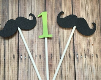 Little Man Cupcake Toppers Mustache Bash Birthday Cupcake Toppers