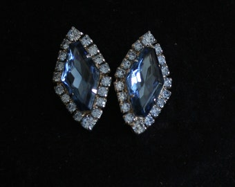 Wedding Earrings, Vintage Jewelry, Wedding Jewelry, Bridal Earrings, Vintage Rhinestone Jewlery, Vintage Earrings, Bridesmaid Earrings