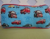 Cars Pillow in Blue and Red / Character Pillow / Blue Red Pillow / Little Boys Pillow / Boys Room Decor