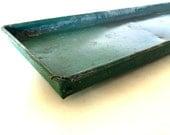 Vintage metal galvanized tray