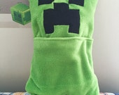 Minecraft Creeper PAJAMA EATER Monster- Ready to Ship!  **Soft cuddle fabric - Great gift for any Minecraft fan!