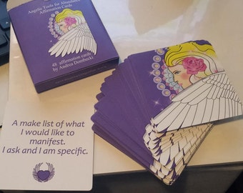 The Angel Tools for Abundance Affirmation Card deck