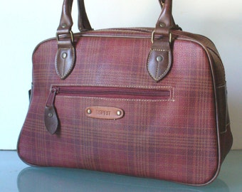 Vintage Esprit Plaid Boston Bag