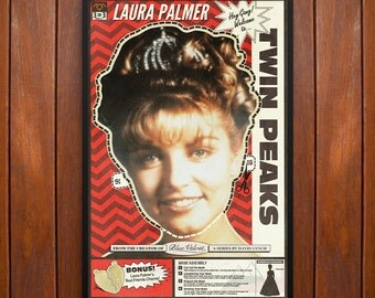 Twin Peaks Poster and Framed Print, Laura Palmer Mask