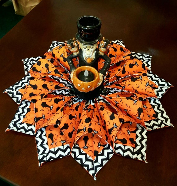 Black Cat Halloween Candle Wreath