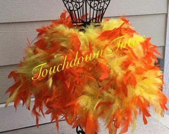 Orange yellow feather tutu or customize your own