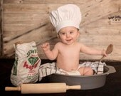 BABY CHEF HAT in 4 sizes Newborn - Infant - Toddler and - XLToddler - PHOTOprop